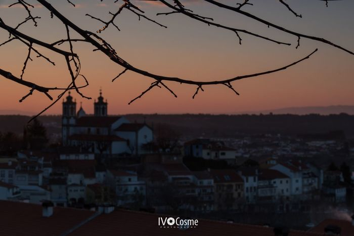 Sunset in the city Sunset City Sky No People Tree Seia Serradaestrela Portugal