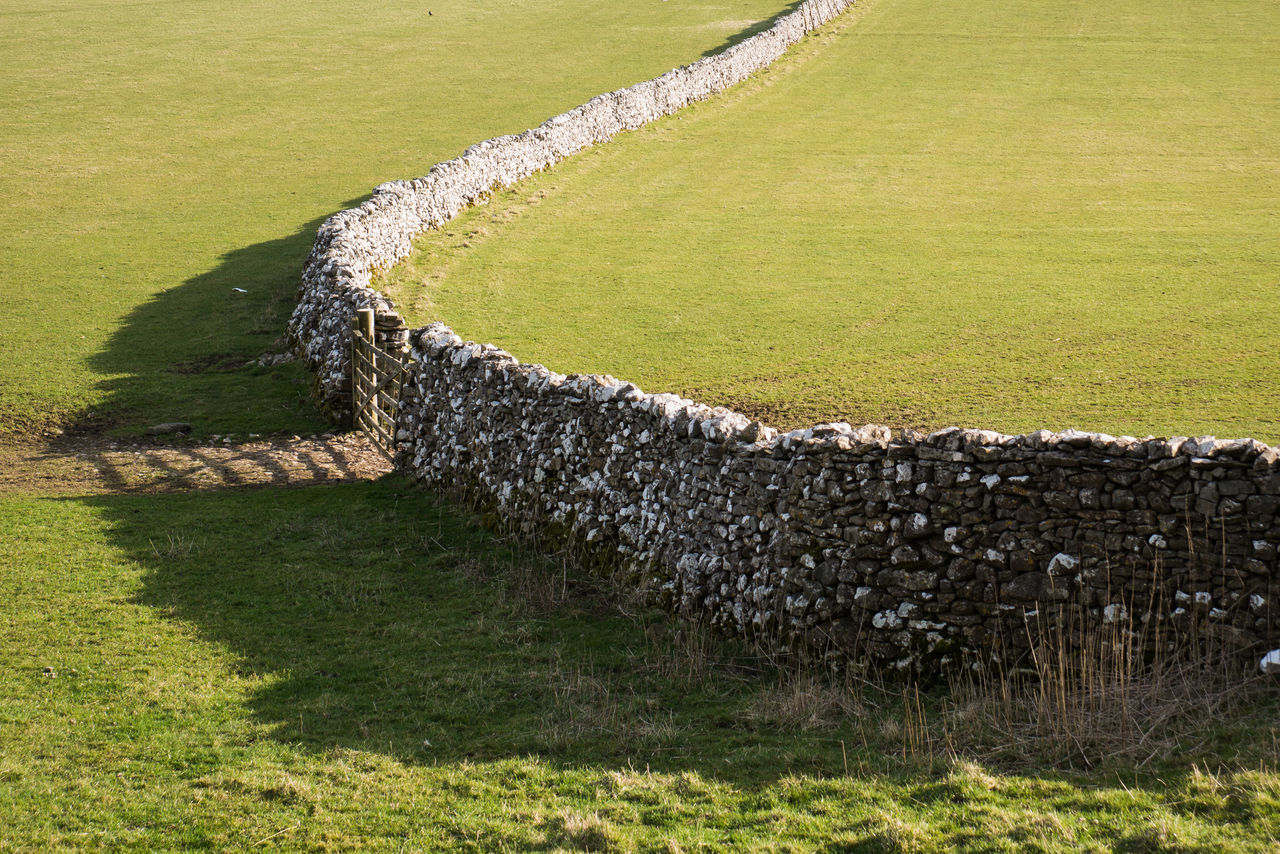 Agriculture Bend Countryside Curve Dry Stone Wall English English Countryside Farm Field Gate Grass Green Color Landscape Leading Lines Outdoors Stone Sunlight And Shadow Wall Yorkshire Yorkshire Dales
