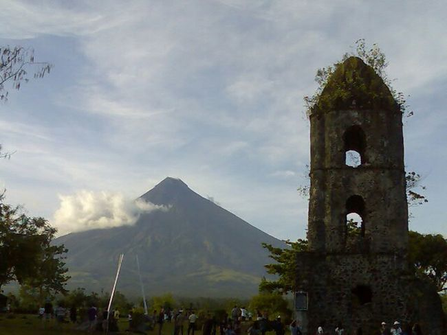Cagsawa Ruins, Legaspi City, AlbayEyeem Philippines Perspectives Heaven And Earth Hanging Out