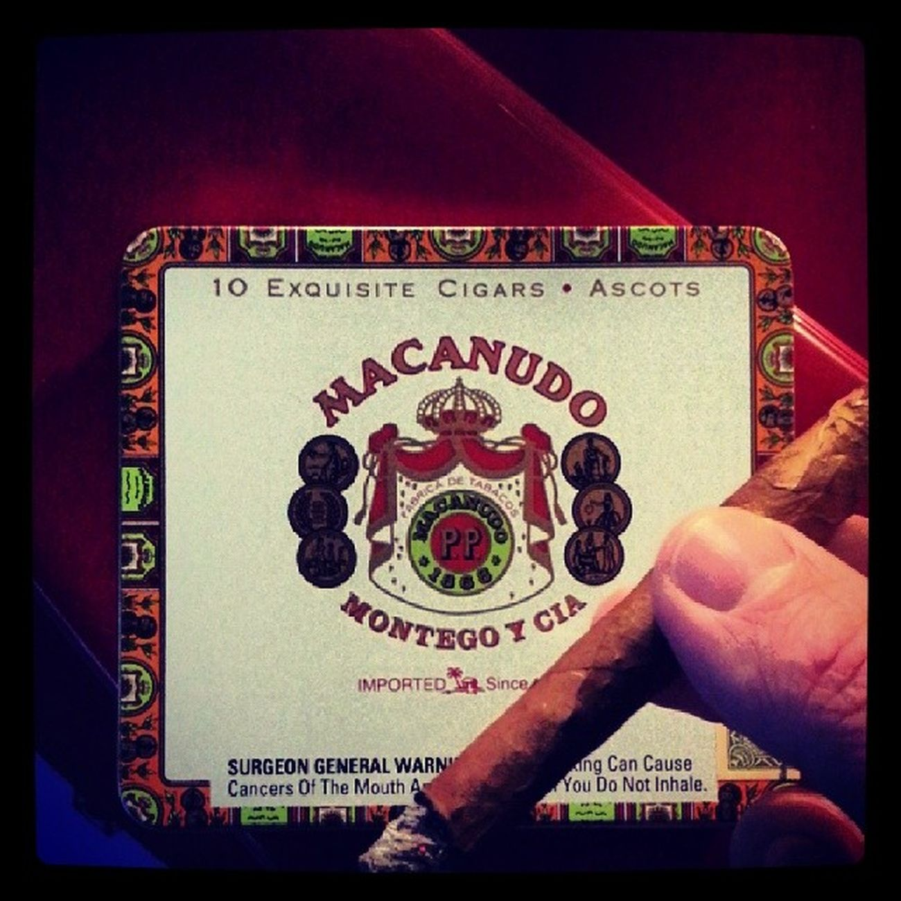 Giving thanks for a Macanudo Ascot Cigar Simplepleasures Cigarafficianado Thanksgiving
