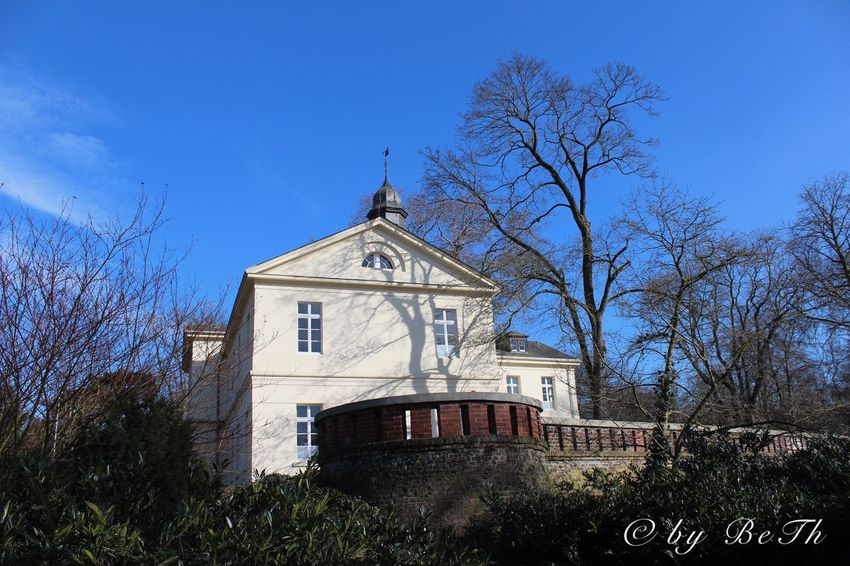 Eller Schlosspark Architecture Built Structure Bare Tree Tree Building Exterior No People House Low Angle View Branch Day Blue Outdoors Sky Nature Clear Sky
