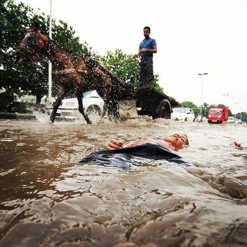 Hindustan_times a boy enjoying roadside waterloging InstawithHT Instadaily Daily Life Rain Weather Waterloging Roadsideromeos Chandigarh Sunday Photooftheday Photojournalism Roadsofchandigarh India Monsoon