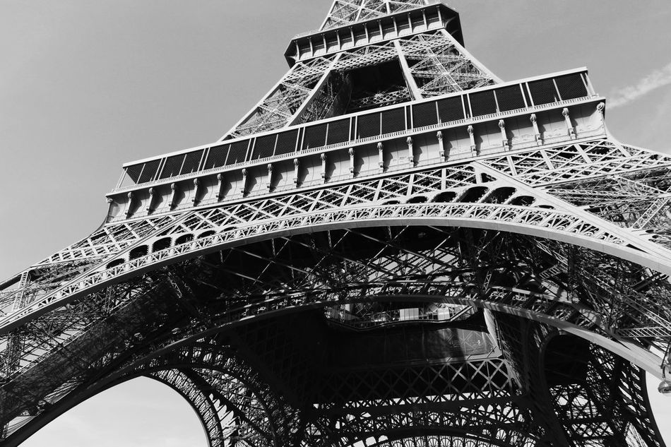 """""""La Dame de fer"""" Arch Architectural Feature Architecture Built Structure Capital Cities  City Culture Day Eiffel_tower  Famous Place History International Landmark Low Angle View No People Outdoors Sky Tall - High Tourism Tower Travel Destinations"""