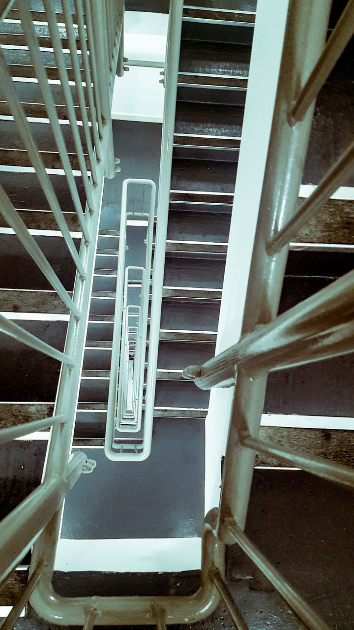 steps and staircases, staircase, steps, railing, no people, stairs, day, architecture, hand rail, outdoors, close-up