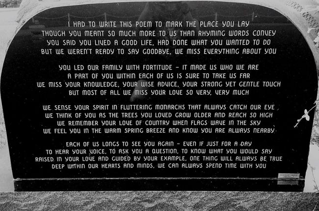 Found this on the back of a tombstone. I couldn't help but shed a few tears! Stone Poem Letter Black And White Photography Cemetery_shots Cemetery Wanderings Cemetery Photography Tombstone Cemetery Cemeterybeauty Old Tombstone Cemetary Tombstones Grave Grave Stone Graveyard Cemetery Beauty Gravestone Graveyard Beauty Graveyard_dead Graveyard Collection Gravestones Graves Grave Yard Wisconsin