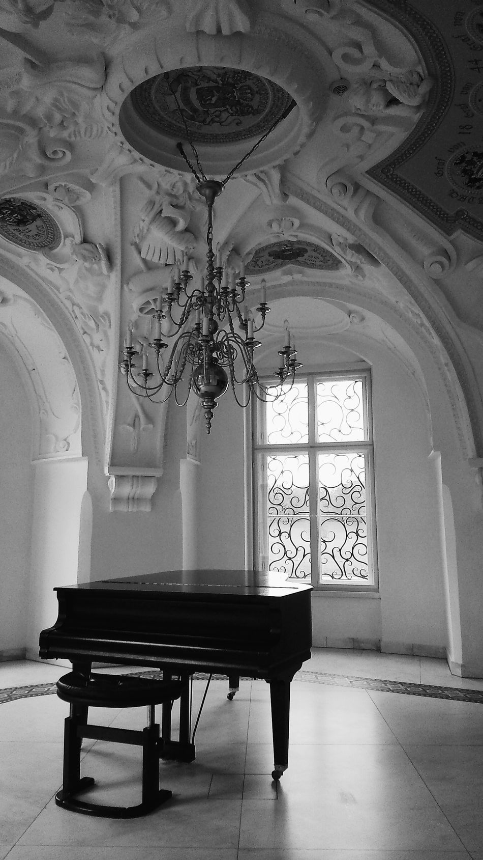Beautiful stock photos of piano, Absence, Bad Muskau, Carving, Ceiling