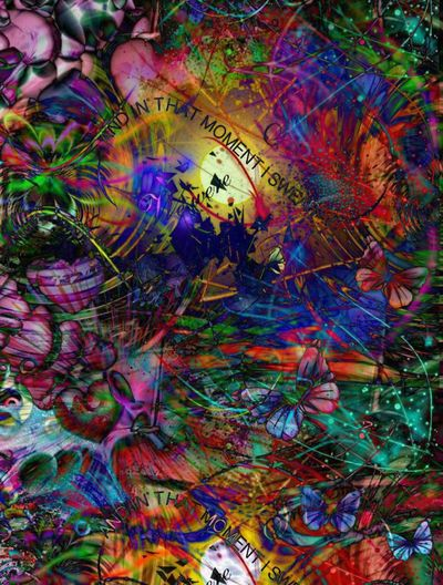 abstrakte Multi Colored Abstract Full Frame Ink Backgrounds Close-up No People