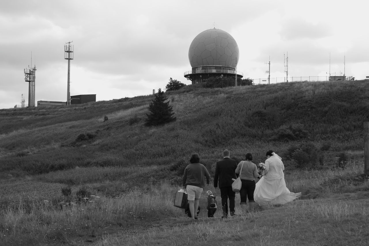 Wasserkuppe,Hessen/Germany Architecture Day Fotoshooting Wedding, Hill Outdoors People Sky Technology Wasserkuppe/Germany,