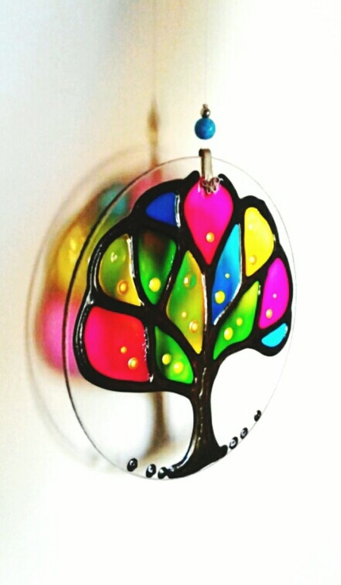 Ornament House Ornaments Amulets Multi Colored Indoors  No People Reflection Colors Colorful Shadow Tree Figure Tree Wall Decoration Wall Minimalism