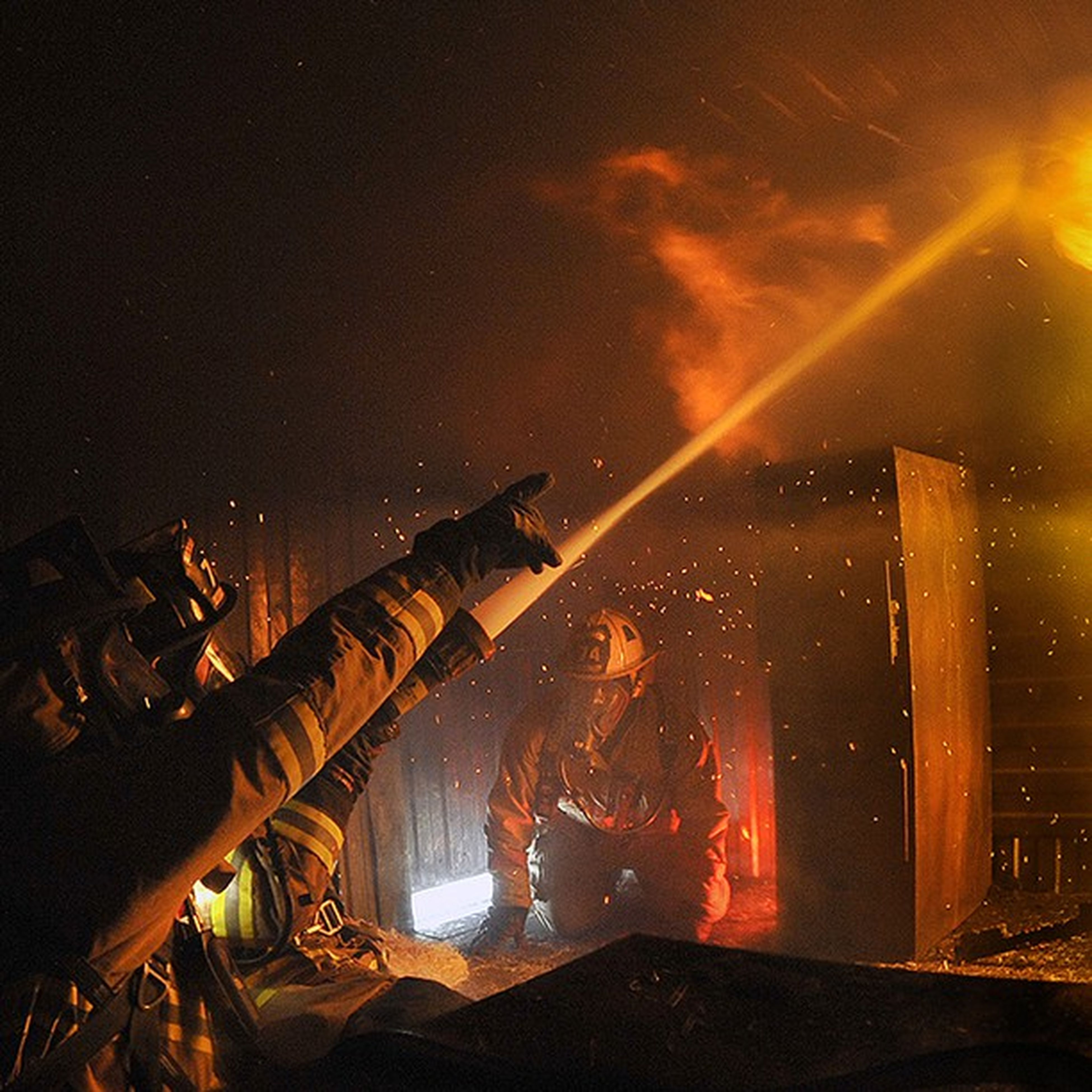 FavoritePhotos Firefighters practice fire Suppression tactics in a live Fire training building. @firefightersunited @officialfdny Full size photo here: http://flic.kr/p/brgPTr airforce usaf military photos photography unitedstates us usa america photoftheday heat @nikontop