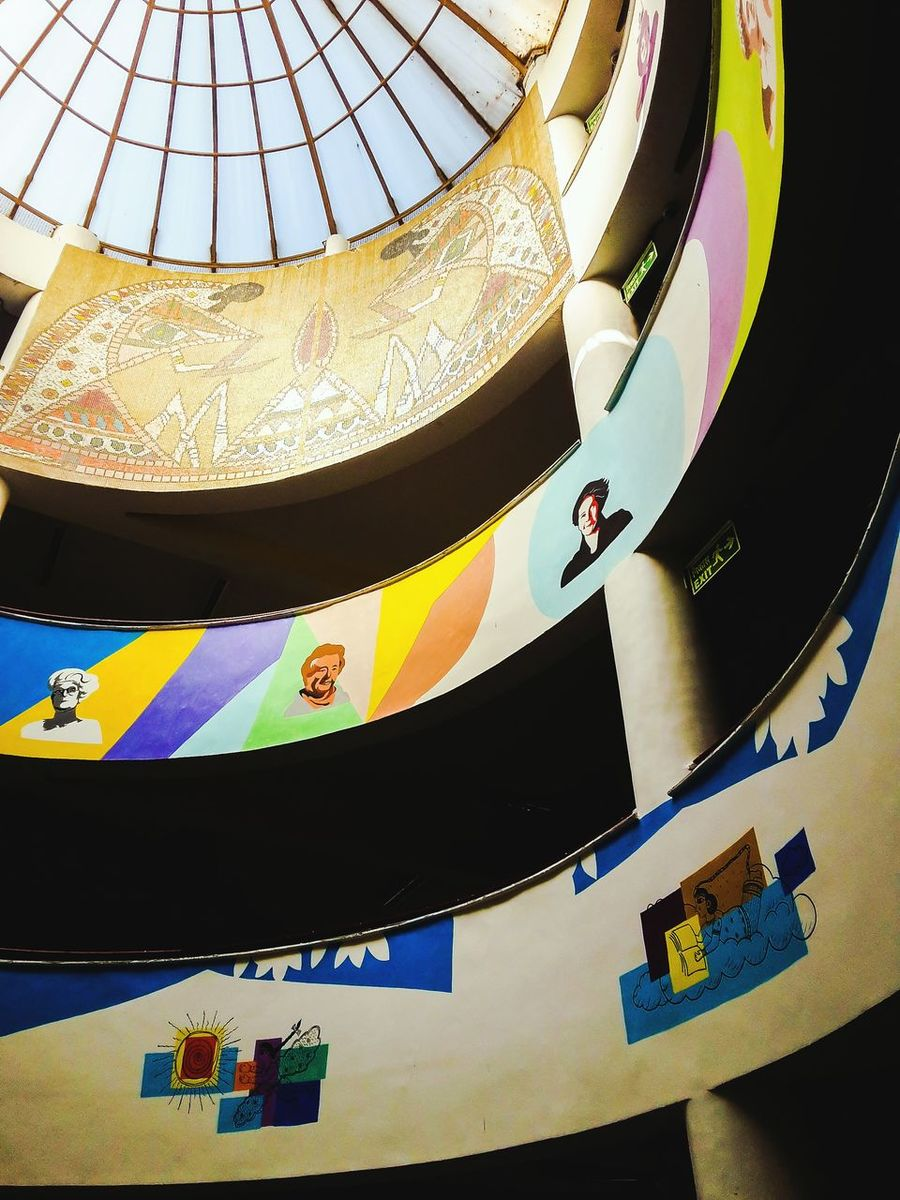 Multi Colored Low Angle View Indoors  Arts Culture And Entertainment No People Day Architecture College Campus CollegeBuilding Wall Art Wallpainting Colors Creativity EyeEm