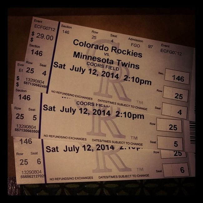 Going to watch the Coloradorockies play. Coorsfield Ourfirsttime