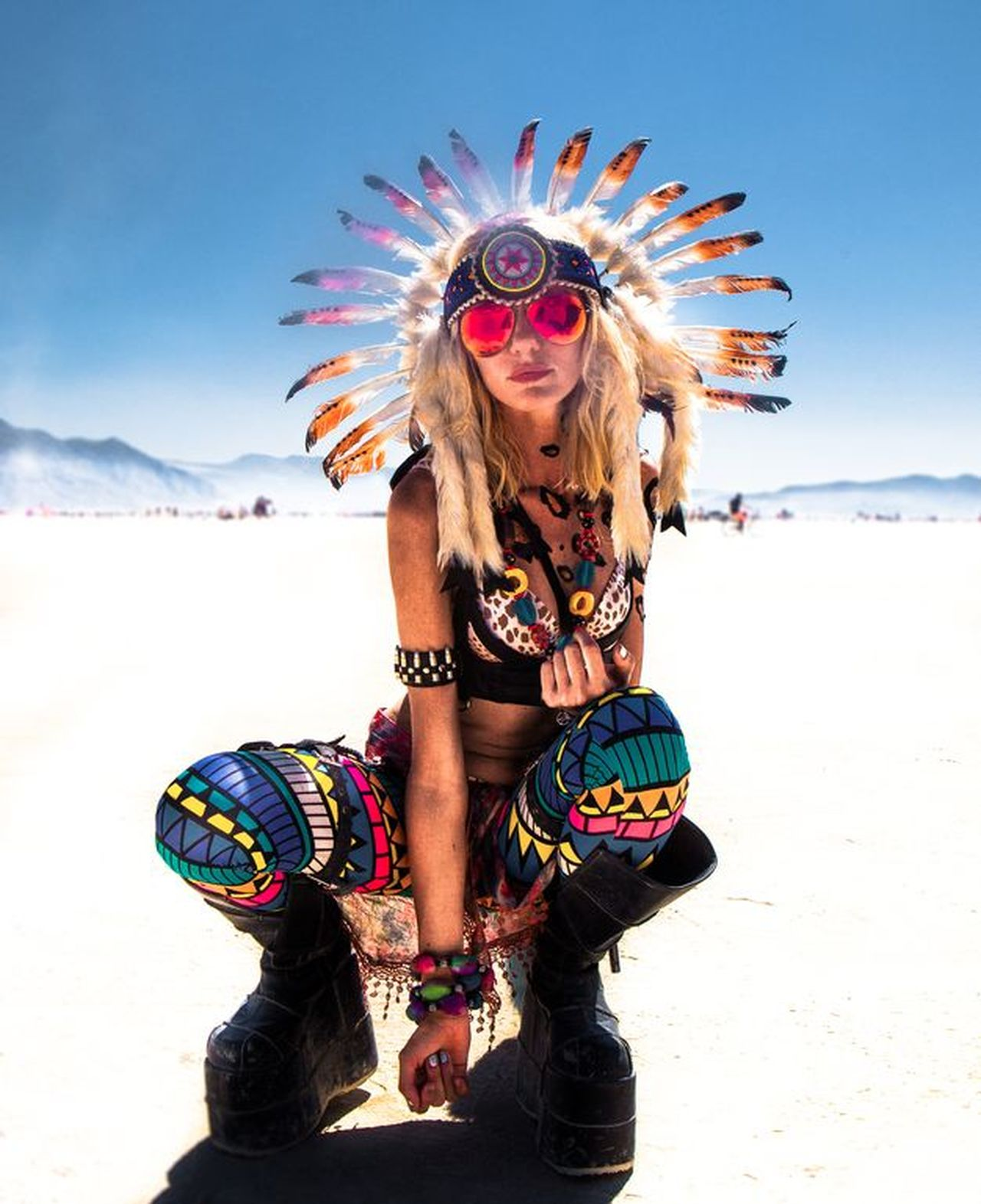 Feather  Only Women One Woman Only Portrait Adult Adults Only One Young Woman Only One Person Looking At Camera Headdress People Sand Young Women Happiness Beautiful Woman Young Adult Women Sea Multi Colored Beauty