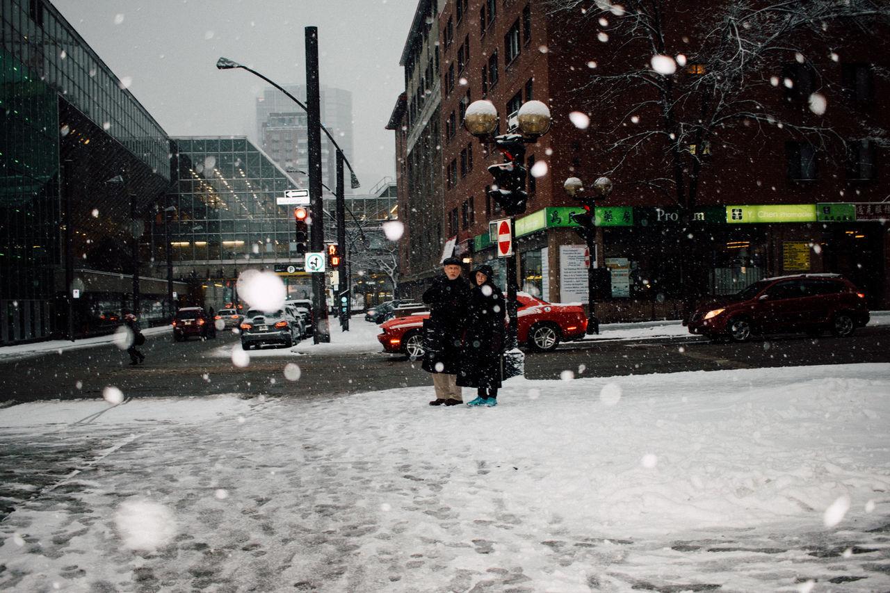 Montreal + Snow Canada Colour Couleur Evening Flocon Montréal Neige❄ Quebec Rural Scene Snow Snowflake Street Vintage