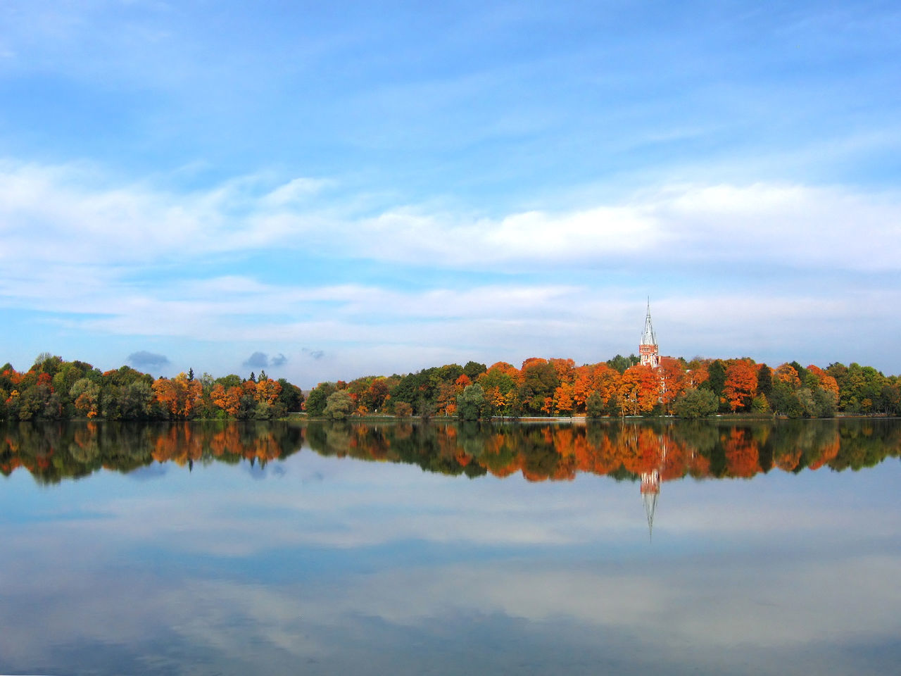 Lithuania in Autumn Architecture Autumn Autumn Colors Beauty In Nature Building Exterior Built Structure Change Cloud - Sky Day Lake Leaf Lentvaris Lithuania Nature No People Outdoors Reflection Scenics Sky Tower Tranquil Scene Tranquility Tree Water Waterfront
