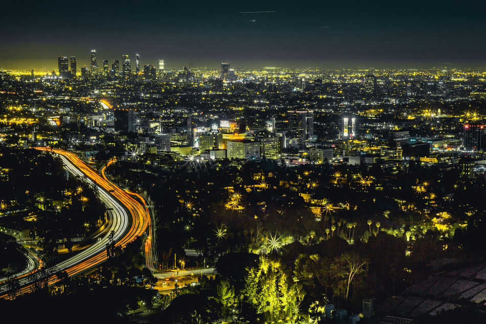 A Beautiful View of Hollywood and Losangeles from the Hollywood Bowl Scenic Overlook ,forgot my Tripod and had to improvise, took a couple of Shots before i could get it perfect! Landscape Cityscape City View  Sony A6000 California Wildlife Outdoors Light Streaks Long Exposure Hollywood Bowl Learn & Shoot: After Dark Canon Fd 50mm Lens Adapted To The City