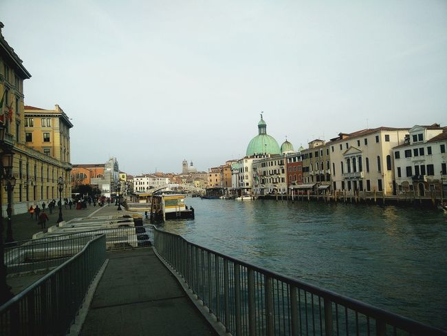 Venice, Italy Canals San Simeone Piccolo Grand Canal Canal Grande Venezia World Heritage Architecture Building Exterior Built Structure City Outdoors Water Waterfront Cityscape Incidental People Famous Place Building Sky City Life Residential District Urban