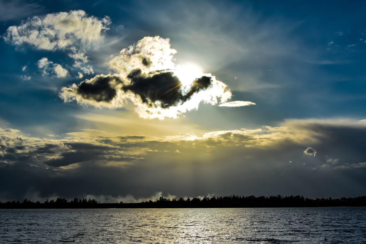 sky, cloud - sky, beauty in nature, nature, tranquility, scenics, sunset, tranquil scene, no people, outdoors, water, sea, day
