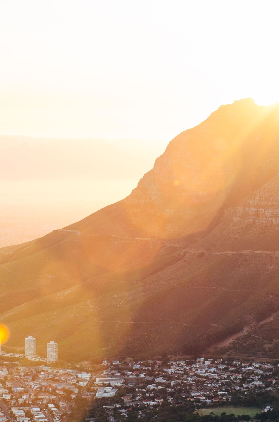 Cape Town Devil's Peak Golden Hour Mountain Nature Outdoors South Africa Sunrise