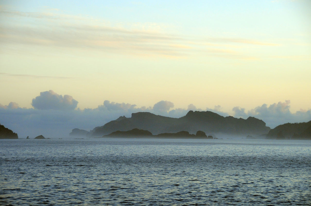Landscape_Collection Morning Landscape Ogasawara Island Ogasawara Islet Sea And Sky Subtle Colors Tokyo,Japan 父島