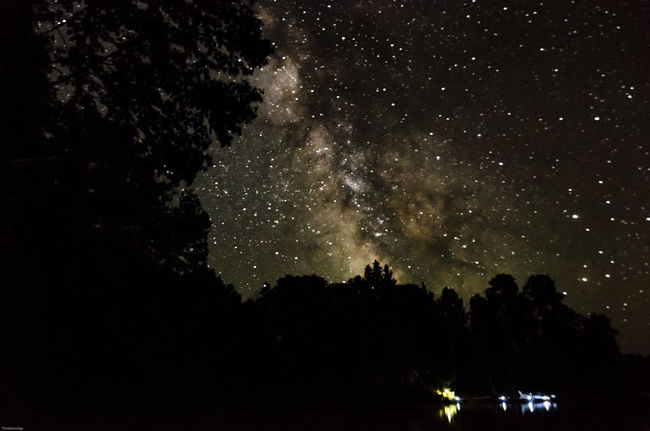 Milky way on the lake Cottage Life Nikon Life Nikonphotography Star Collection Water_collection Nikon D7000 Ontario, Canada Canada Coast To Coast Stars Astrophotography Night Sky Long Exposure Milkywaygalaxy