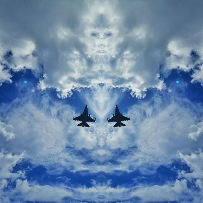 F16 F16fightingfalcon Military Airplane Blue Jetplane Plane Mirror Picture Skyformation The Magic Mission