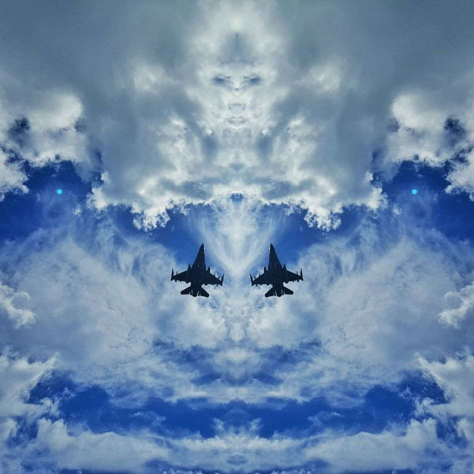 F16 F16fightingfalcon Military Airplane Blue Jetplane Plane Mirror Picture Skyformation The Magic Mission Flying High Resist