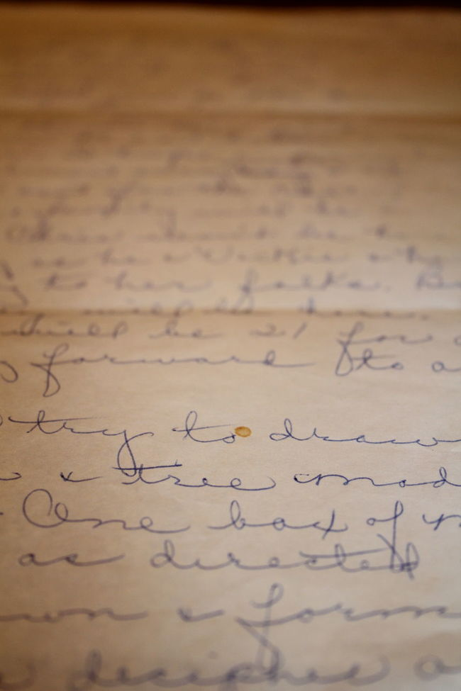 1989 Cursive Cursive Writing Grandma Grandmother Letter Old Paper Recipe Worn