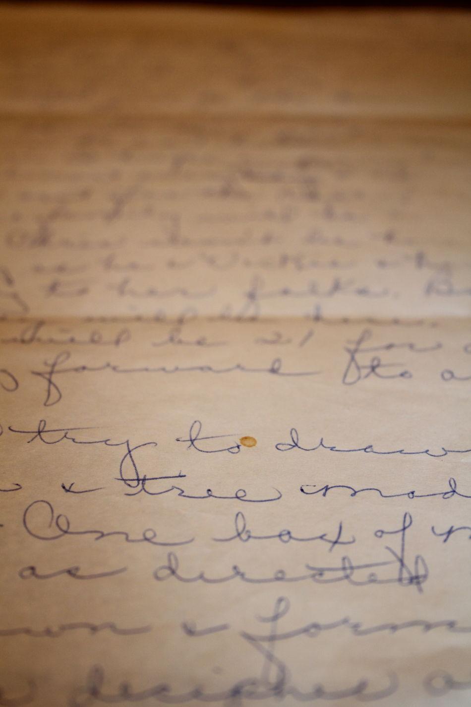 1989 Cursive Cursive Writing Grandma Grandmother Letter Old Paper Recipe Worn