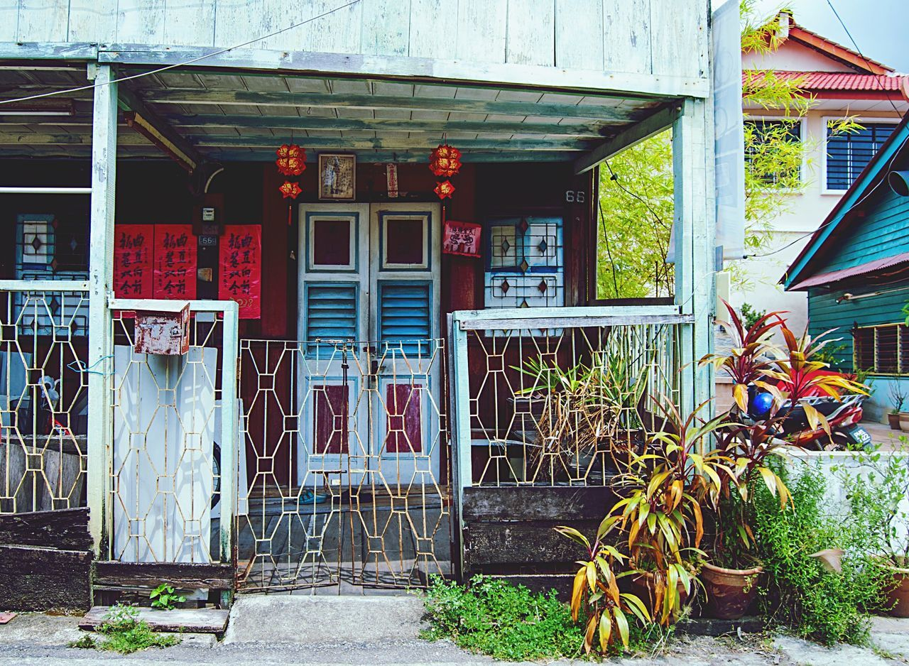 Architecture Built Structure Building Exterior Door House Doorway Street Building Culture Asian  Southeastasia Malaysia Penang Georgetown Home Authentic Colorful