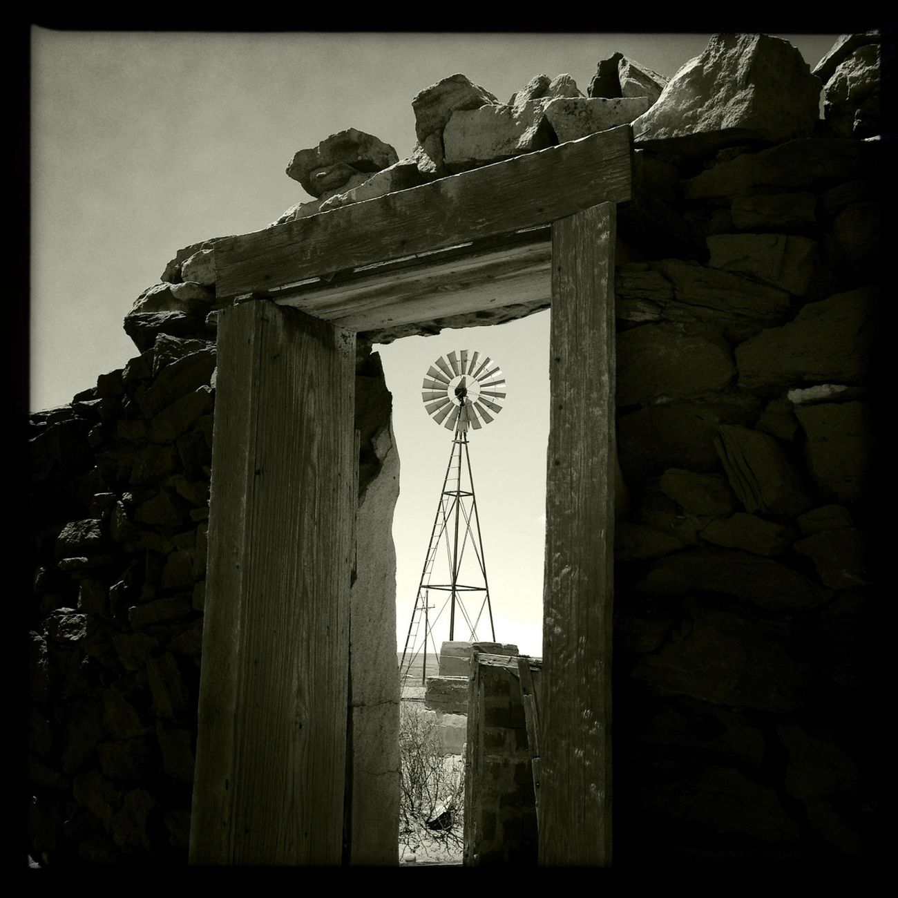 Hipstamatic New Mexico Chasing Windmills