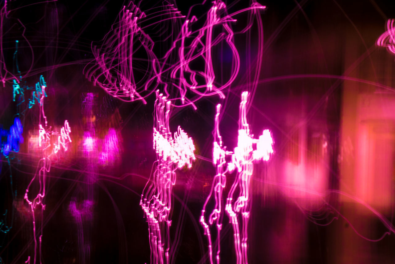 Bright Close-up Electric Light Fairy Lights Geometric Shape Glowing Illuminated Light Light Painting Lightpainting Lightpaintingphotography Lightphotography Lightplay Lightporn Lights Long Exposure Longexposure Majestic Night Outdoors Patterned Pink Color Red Vibrant Color
