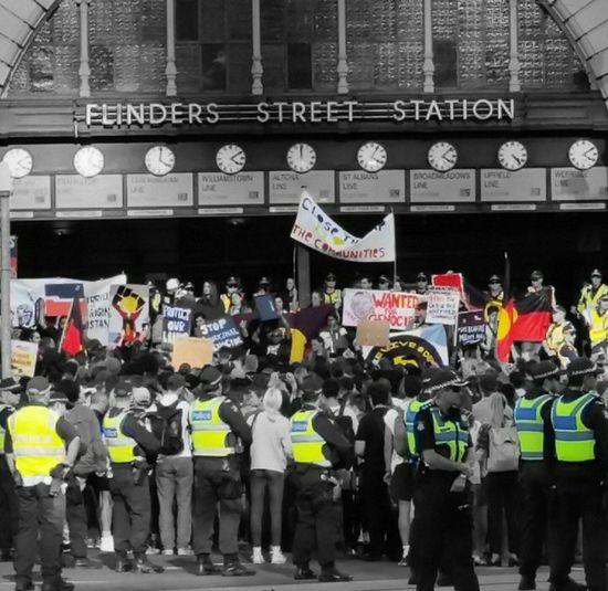 Flinders Street Station Aboriginal Rights Melbourne