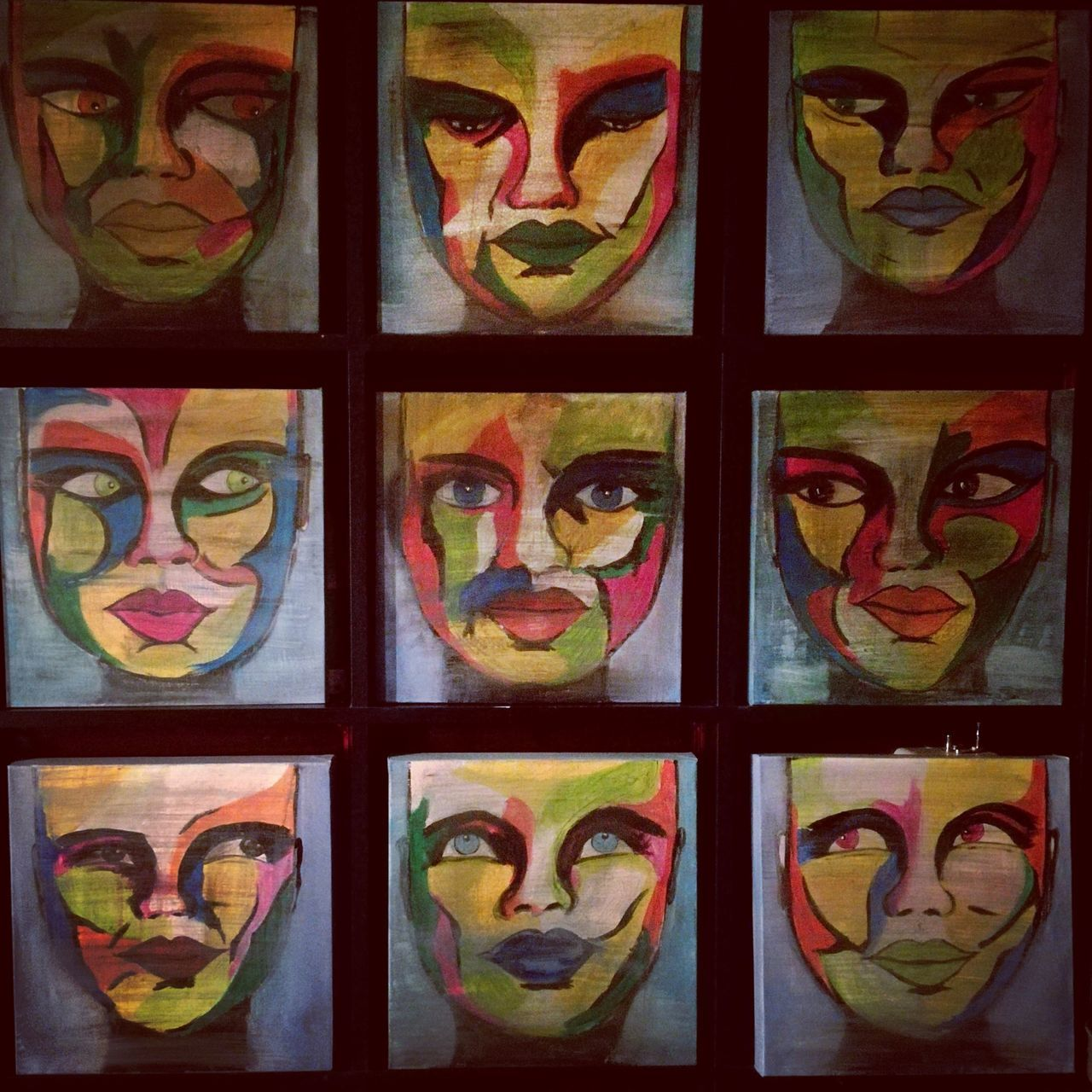 Me,myself and I Multi Colored Creativity Pattern No People Cultures Neat Indoors  Close-up Day Art, Drawing, Creativity Art Beauty Portrait Painting ArtWork Paint Acrylic Painting People Artist Painted Image Acrylic Creativity Mywork Artistic Hobby