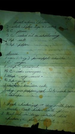 I hijacked one of my mom's old recipes....it's dated 9/68, so she was a young newlywed, creating a personal cookbook....one of my faves growing up!