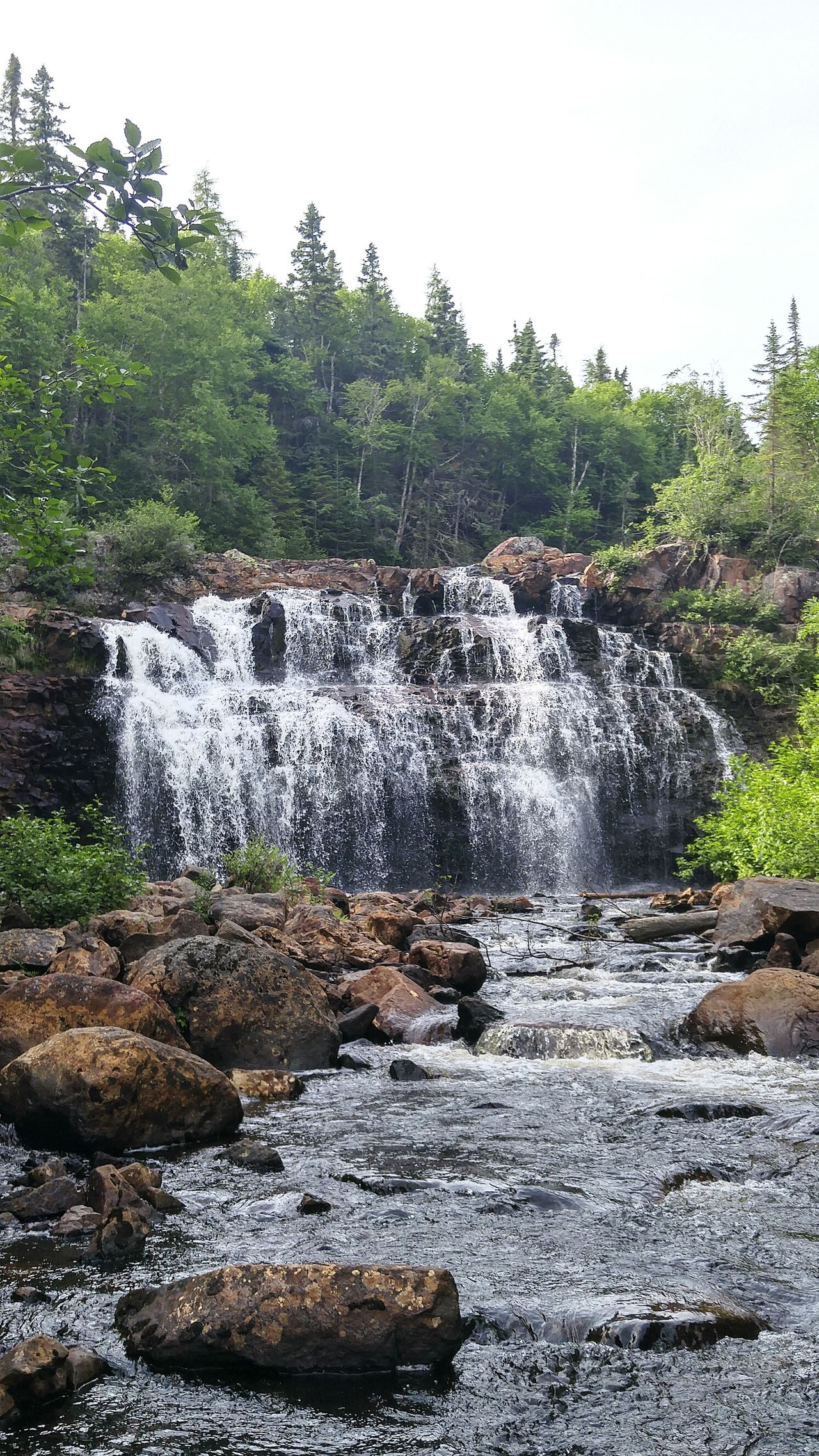 Neys Marathon, Ont Ontario Ontario, Canada Scenics Beauty In Nature Water Outdoors Hiking Hikingphotography Nature Magical Mother Nature Crystal Clear Waters Rocky Waterfall Water Running Over Rocks Water Rush In Awe Captivating