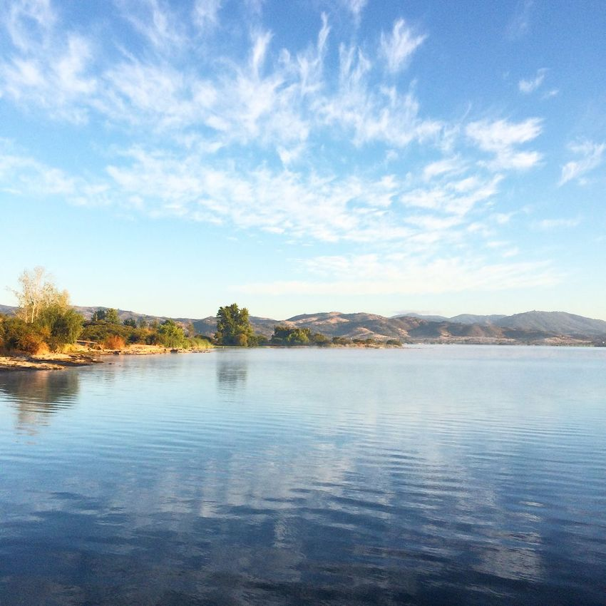 Lago Rapel Rapel Las Cabras Chile Dawn Lake Clouds And Sky Lago Cielo