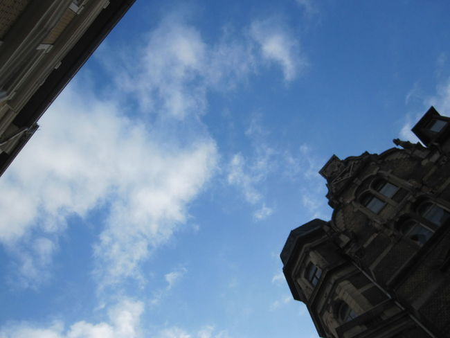 Architecture Blue Sky Building Exterior Built Structure Cloud - Sky Day History Lookingup Low Angle View No People Outdoors Sky Street