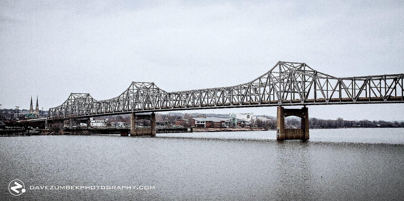 River Water Cloudy Bridges