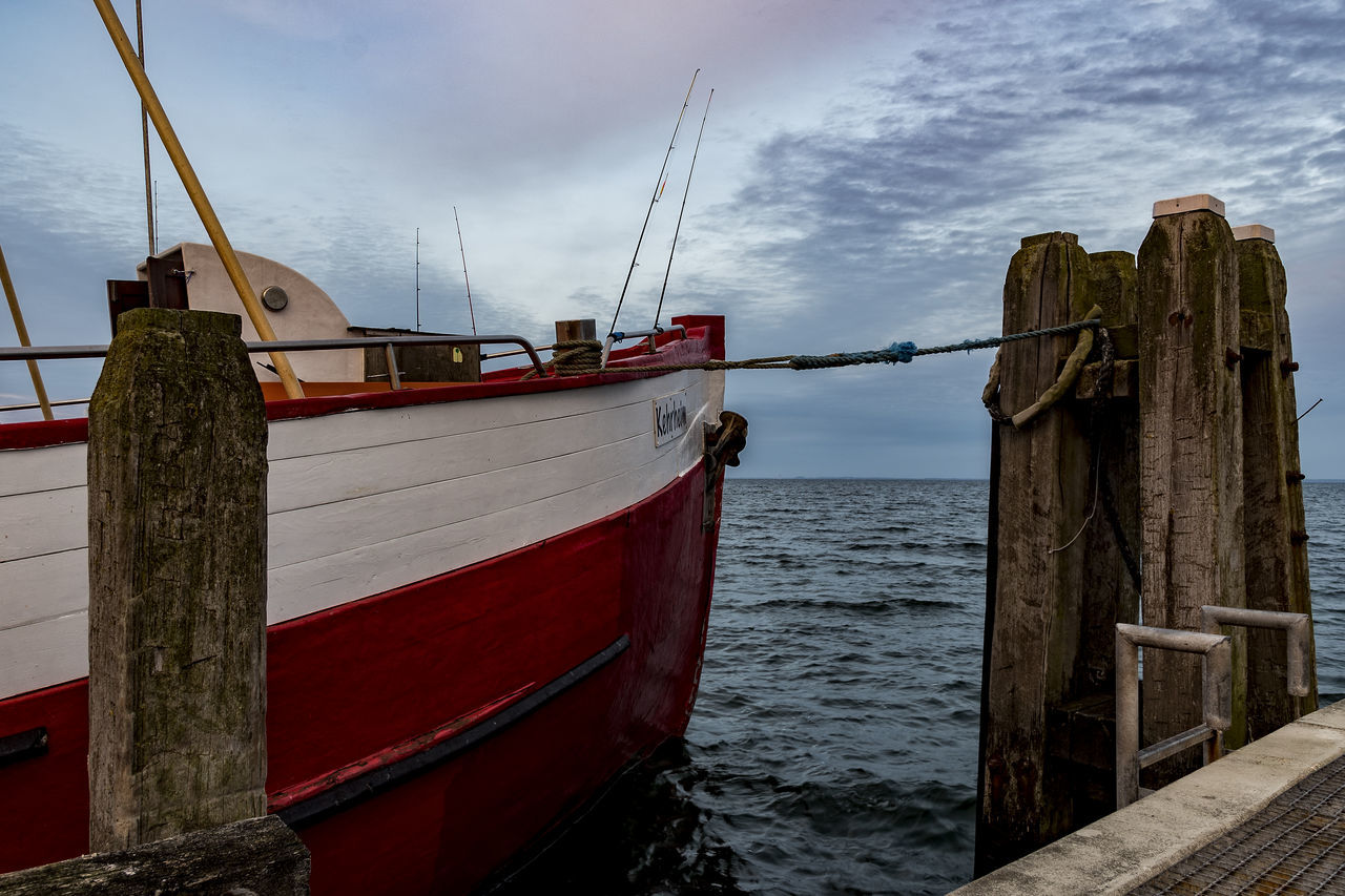 Fisherboat Baltic Sea Beauty In Nature Boat Cloud - Sky Day Fisherboat Horizon Over Water Mast Mode Of Transport Moored Nature Nautical Vessel No People Outdoors Sea Sky Tranquility Transportation Water