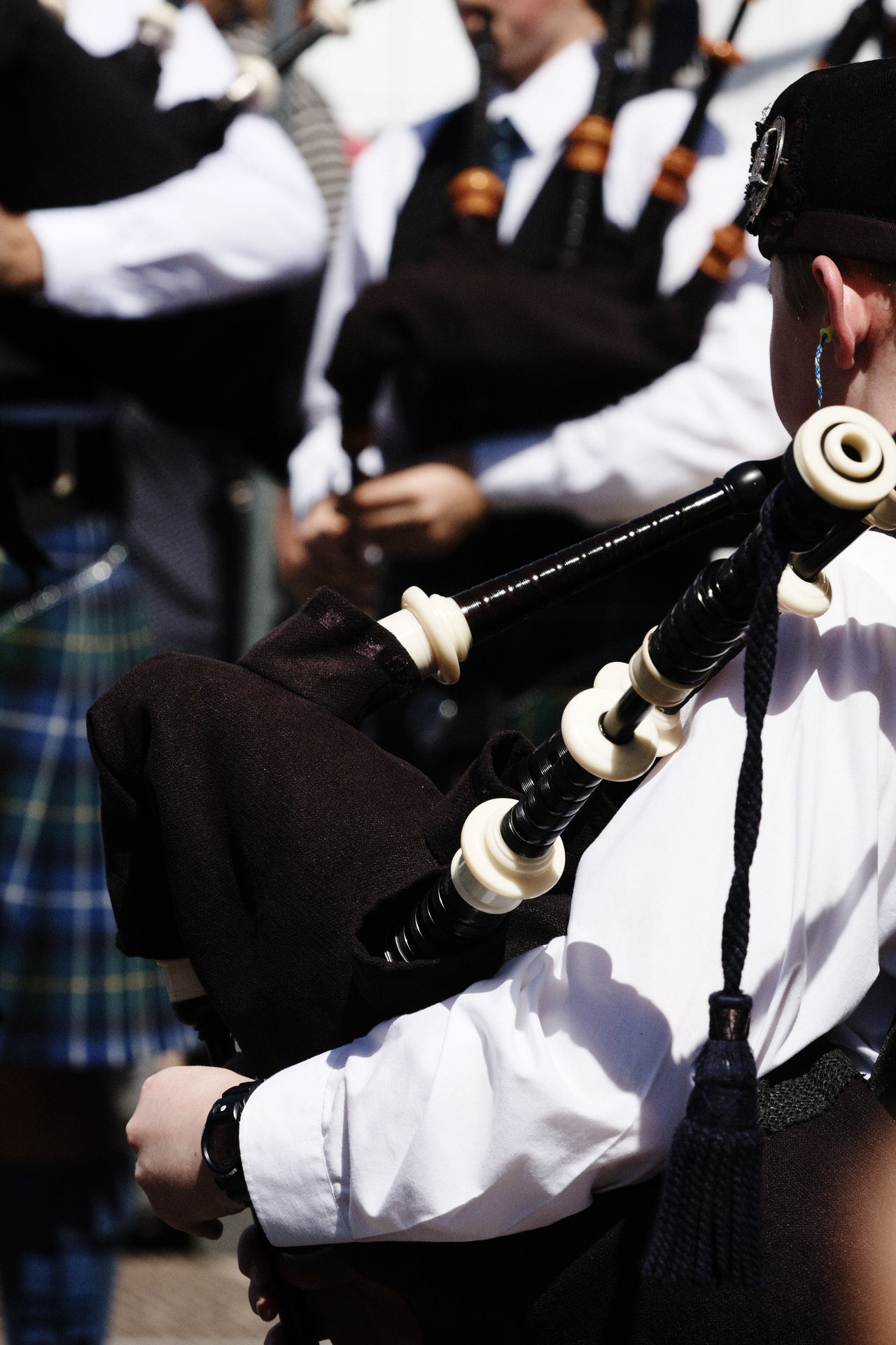 festival interceltique Lorient FIL Ceremony Day Human Hand Lorient Men Musical Instrument Outdoors Real People Sword Two People Well-dressed