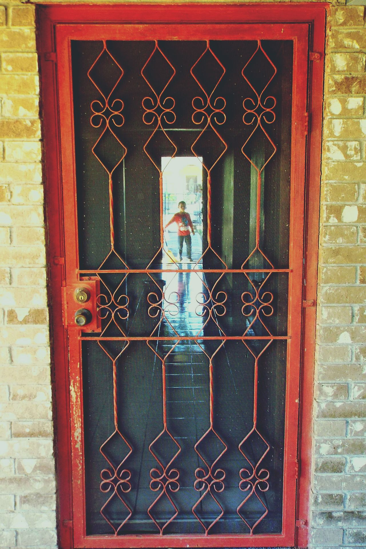 Red Door Old House Moving Out Childhood Home Child Doors Last Day Metal Door Boy At Door Boy Childhood Memories Empty House Reflection Childhood Tile Reflection Telling Stories Differently Home Is Where The Art Is
