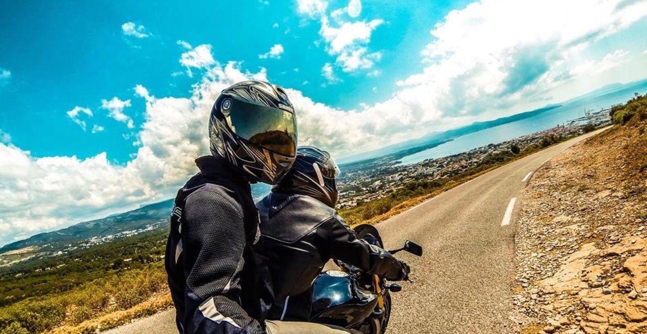 Beautiful stock photos of motorcycle, Crash Helmet, Day, France, Friendship
