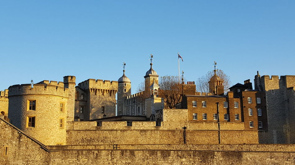 Tower of London. Tower Of London London Travel Destinations No People History Blue Sky Golden Glow Architecture City Tower Historical Travel Photography Travelgram UNESCO World Heritage Site Clear Sky Outdoors Day My Year My View