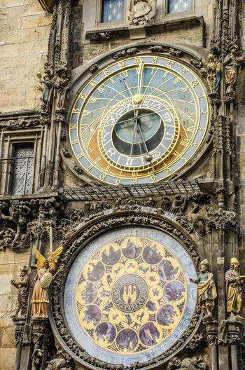 Astronomical Clock Prague Old-fashioned Prague Astrology Sign Astronomical Clock Astronomy Building Exterior Built Structure Clock Face Clock Tower History Medieval Ornate Travel Destinations