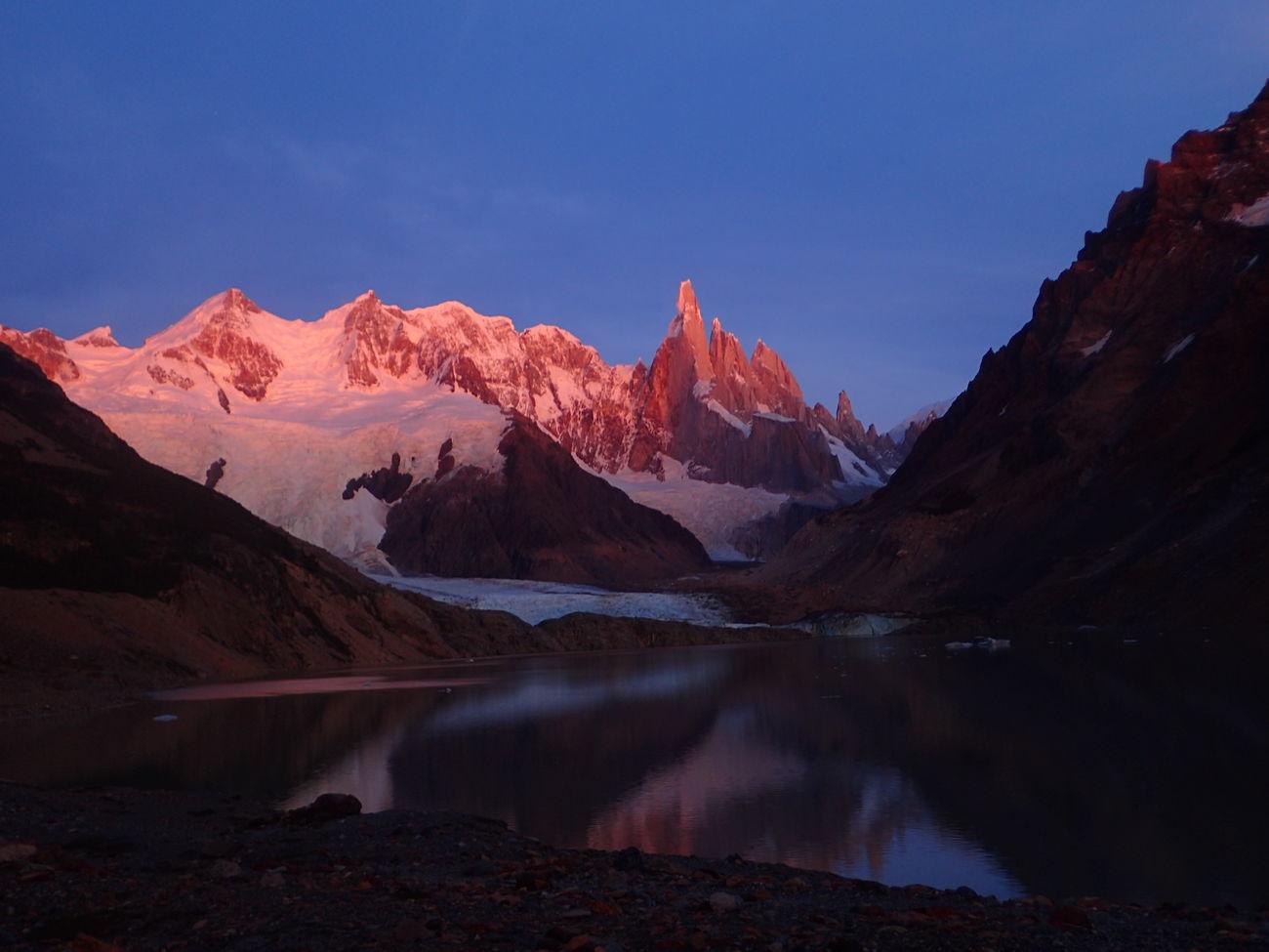 Sunrise at Cerro Torre in Patagonia