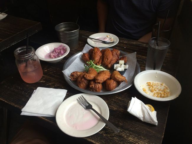 Korean Lunch Lunch Fried Chicken Table Conversation