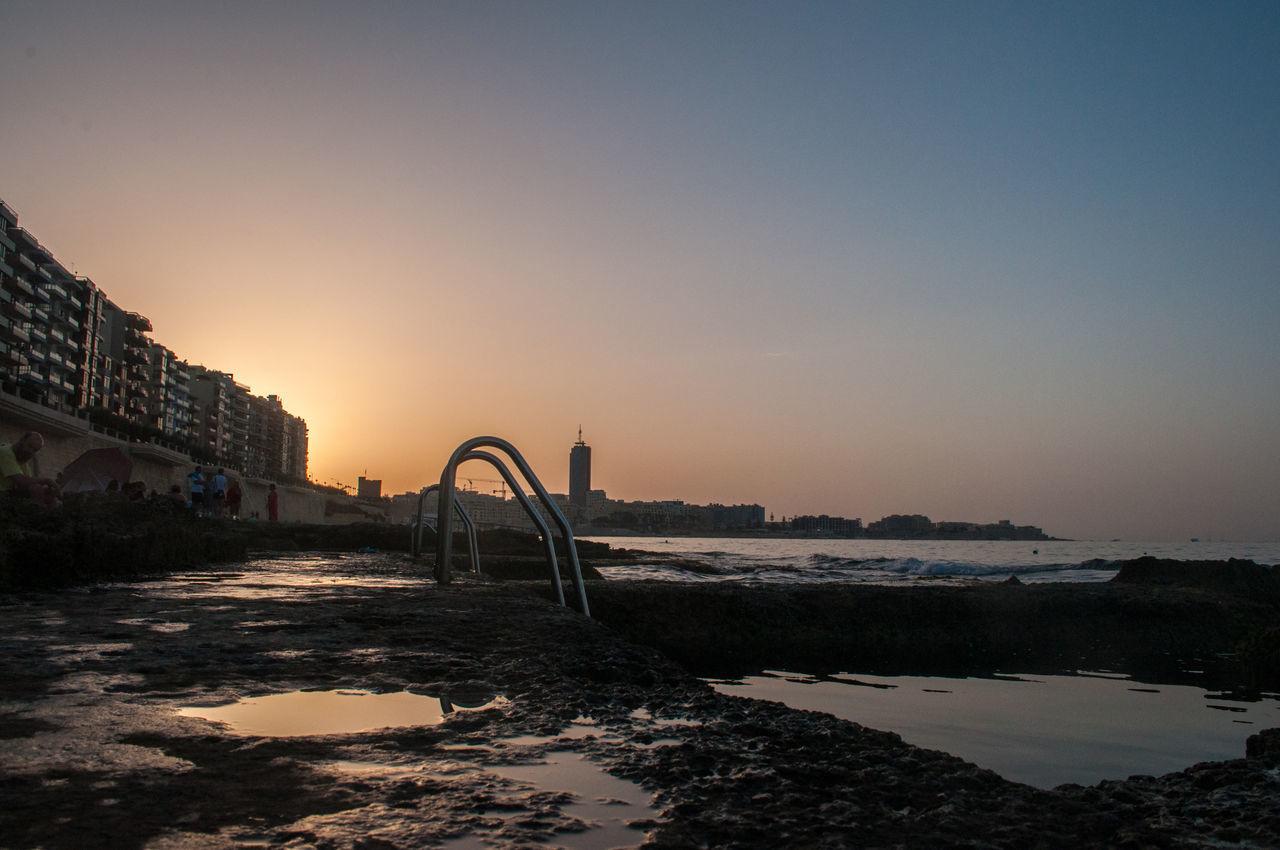 Acqua Litoral Litorale Malta Mare Piscine Naturali Sea Sliema Sunset Tramonto Water