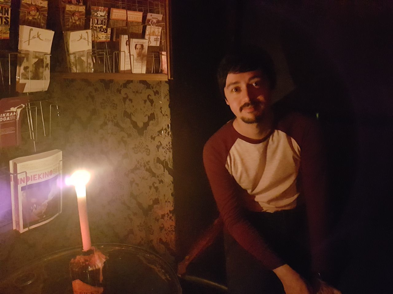 EyeEm Selects One Person One Man Only Only Men Adult People Adults Only Indoors  Night Young Adult Bar Pub Candlelight Candle