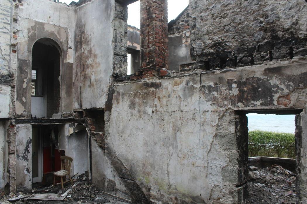 Abandonded House Abandoned Architecture Beach Front Burned House Burned Out Damaged Decadence